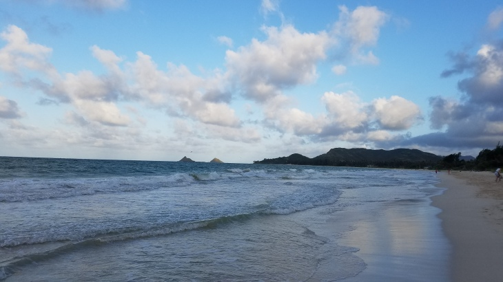 Lanikai Beach in Kailua at twilight